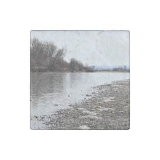 Yellowstone River Stone Magnet