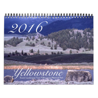 Yellowstone Scenic Nature Landscape USA 2016 Calendar