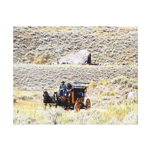 Yellowstone Stage Coach Canvas Print