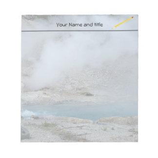 Yellowstone steaming geyser notepad
