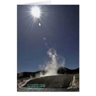 Yellowstone - Sun Over Excelsior Geyser Card