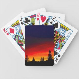 Yellowstone Sunset Bicycle Playing Cards