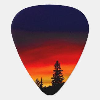 Yellowstone Sunset Guitar Pick