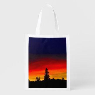 Yellowstone Sunset Reusable Grocery Bag