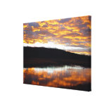 Yellowstone Sunset Wrapped Canvas Print