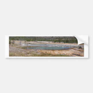 Yellowstone thermal feature car bumper sticker