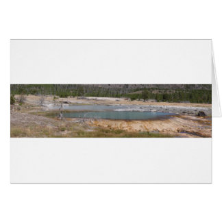 Yellowstone thermal feature card
