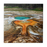 """Yellowstone Thermal Pool Ceramic Tile<br><div class=""""desc"""">In a seldom-visited area of Yellowstone National Park</div>"""
