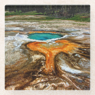 Yellowstone Thermal Pool Glass Coaster
