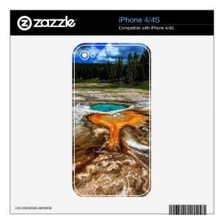 Yellowstone Thermal Pool iPhone 4S Skin