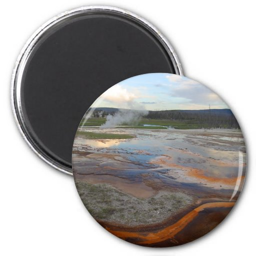 Yellowstone Thermal Pools 2 Inch Round Magnet