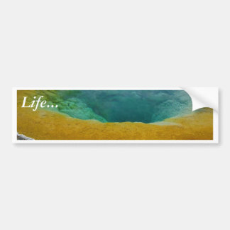 Yellowstone Thermal Spring In Morning Car Bumper Sticker