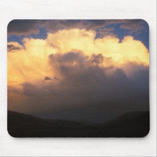 Yellowstone Thunderstorm Sunset Mouse Pad