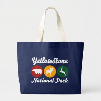 Yellowstone Traffic LIght Large Tote Bag