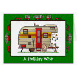 Yellowstone Trailer Camper Holiday Wish Greeting Card