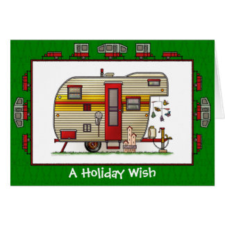 Yellowstone Trailer Camper Holiday Wish Cards