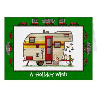 Yellowstone Trailer Camper Holiday Wish Greeting Card