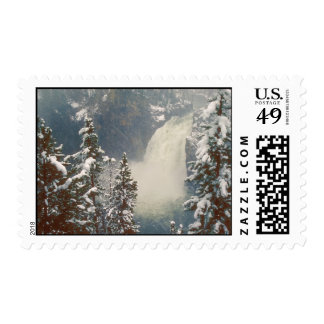 Yellowstone Upper Falls June Blizzard Postage Stamp