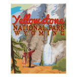 Yellowstone vintage poster