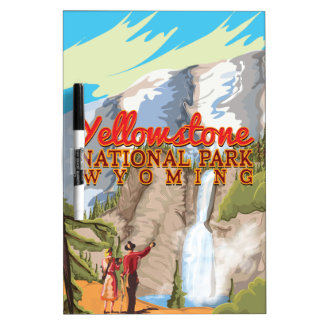 Yellowstone vintage poster dry erase board