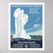 Yellowstone Vintage Travel Poster