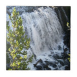 Yellowstone Waterfall in Yellowstone National Park Small Square Tile