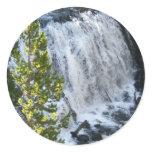 Yellowstone Waterfall in Yellowstone National Park Classic Round Sticker
