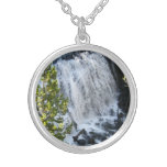 Yellowstone Waterfall Silver Plated Necklace