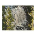 Yellowstone Waterfall Wood Wall Art