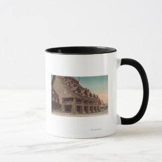 Yellowstone, WY - Entrance of Old Faithful Inn Mug