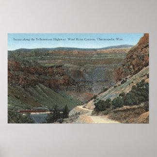 Yellowstone, WY - Yellowstone Highway and Wind Print