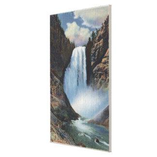 Yellowstone, WYLower cae de debajo la visión Lona Envuelta Para Galerias