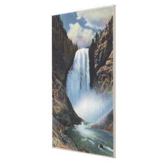 Yellowstone, WYLower Falls from Below View Canvas Print