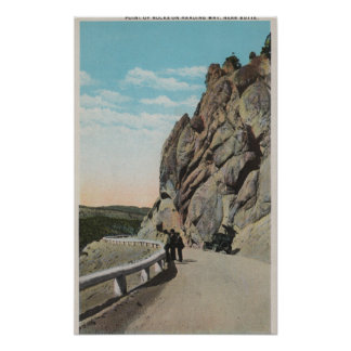 Yellowstone WYVacationers coche viejo cerca Poster