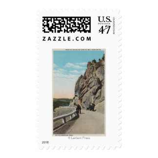 Yellowstone, WYVacationers, Old Car, Near Postage Stamp