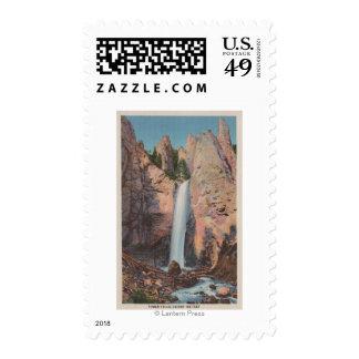 Yellowstone, WYView de las caídas de la torre Estampillas