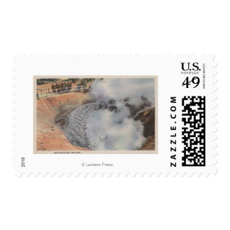 Yellowstone, WYView of Crater of Mud Volcano Stamp