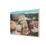 Yellowstone, WYView of Mammoth Hot Springs Canvas Prints