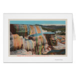 Yellowstone, WYView of Mammoth Hot Springs Greeting Cards