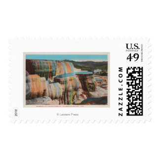 Yellowstone, WYView of Mammoth Hot Springs Postage
