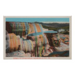 Yellowstone, WYView of Mammoth Hot Springs Posters