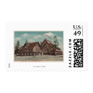 Yellowstone, WYView of Whole Old Faithful Inn Postage Stamp