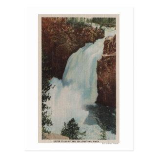 Yellowstone, WYView of Yellowstone River Falls Postcard