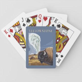 YellowstoneBison with Old Faithful Card Decks