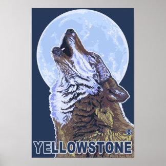 YellowstoneHowling Wolf Poster