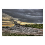 YELLOWSTONE'S CASTLE GEYSER POSTERS