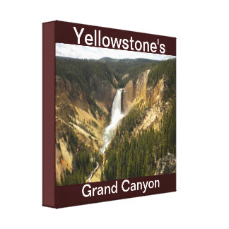 Yellowstone's Grand Canyon falls Wall Canvas Gallery Wrap Canvas
