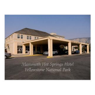 Yellowstone's Mammoth Hot Springs Hotel Postcard