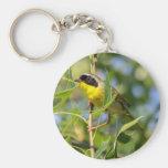 Yellowthroat común llaveros
