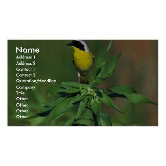 Yellowthroat común tarjetas de visita